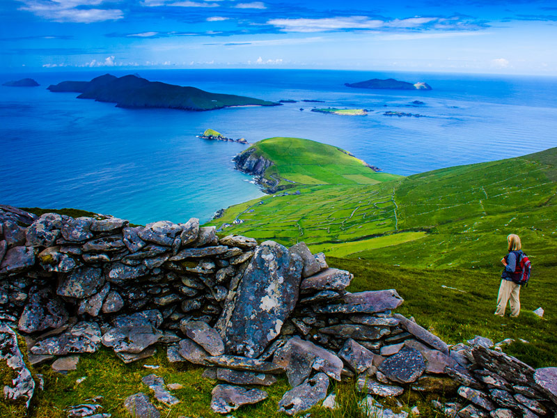 Looking out on the Blasket Islands from Sliabh an Iolar, Mount Eagle