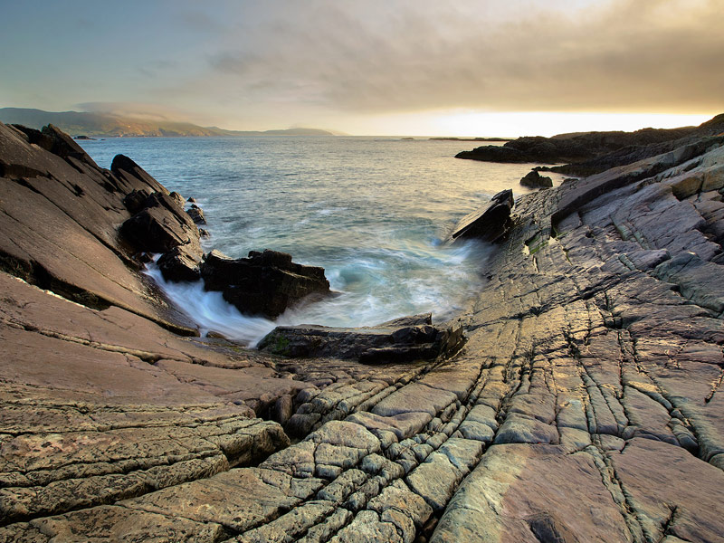 The folded rocks of Beara near Allihies and Dursey Island form one of Ireland most spectacular landscapes