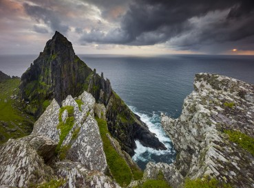 The South Peak of Skellig Michael is the highest summit of this rock-island outpost located 10 miles into the Atlantic off the coast of the Iveragh Peninsula in County Kerry
