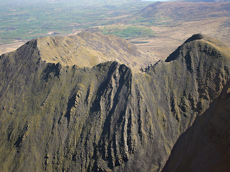 The Been Chaorach ridge from the south west
