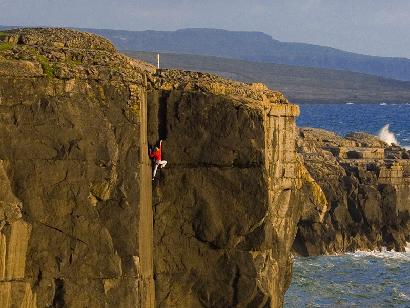 Rock Climbing in Ailladie, County Clare