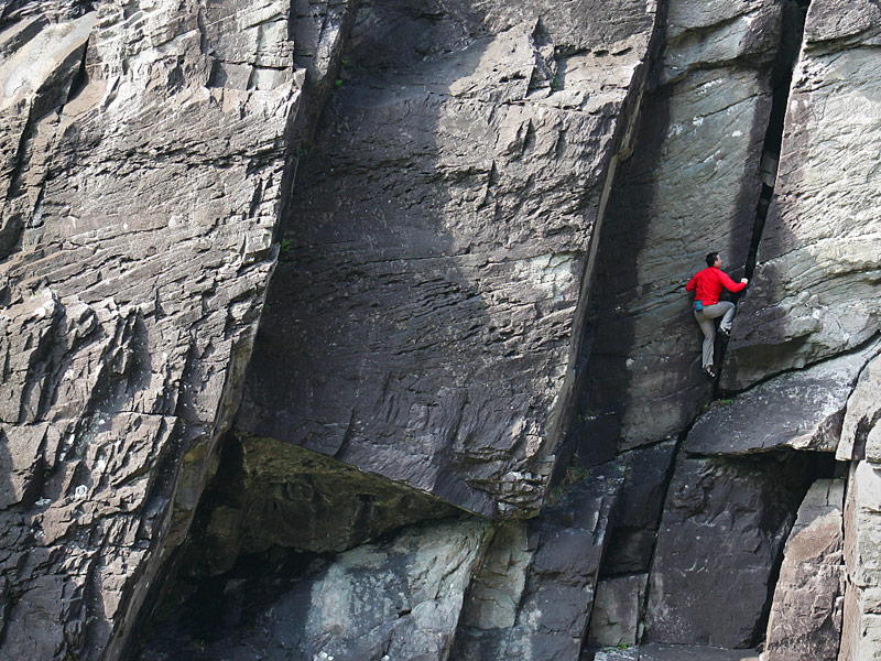 Rock Climbing in the Gap of Dunloe