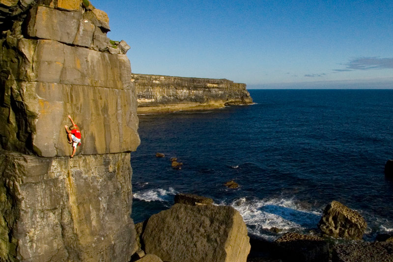 Rock Climbing Ireland's sea cliffs