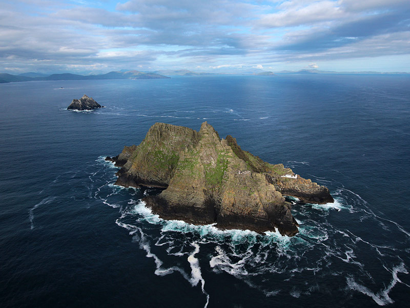 The Skellig islands from the air