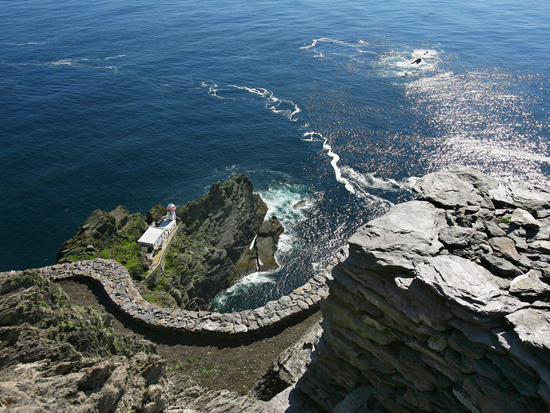 The lighthouse on Skellig Michael