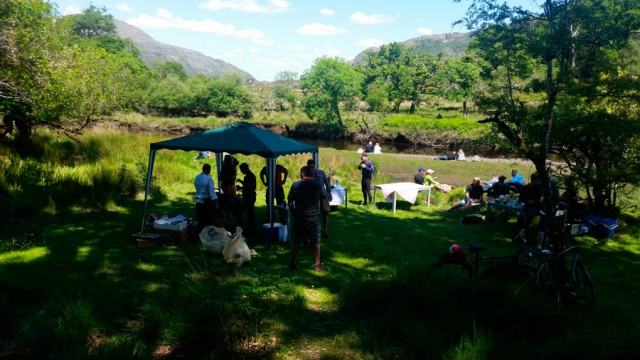 A lavish picnic of local Slow Foods in the Killarney National Park, County Kerry