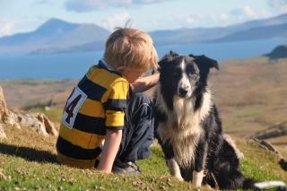 Alex O'Toole and his sheepdog