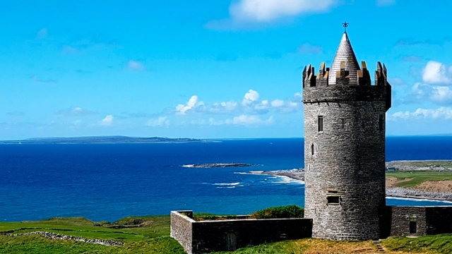 An O'Brien lookout, County Clare