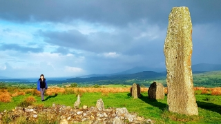 Dawn at a 4000 year old holy site over Bantry Bay, County Cork