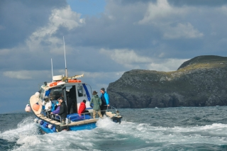 Heading 10 miles off shore into the North Atlantic to Skellig Michael, County Kerry