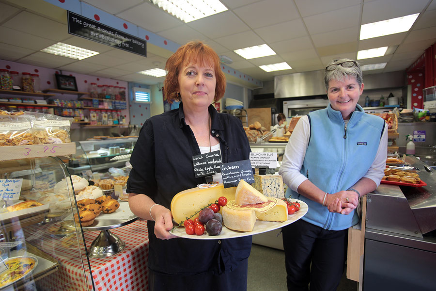 Picking up lunch at Jack's Bakery and Deli in Killorglin, County Kerry