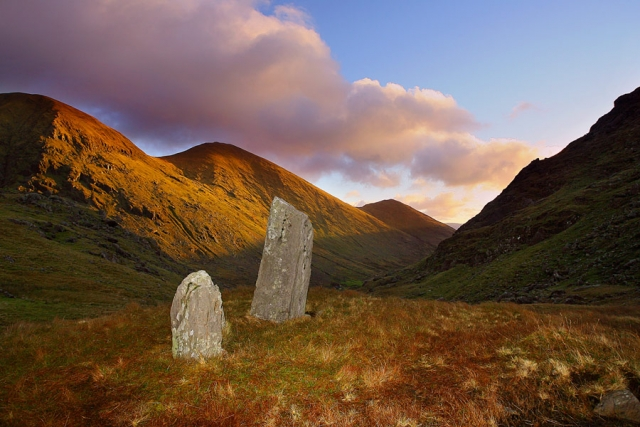 Sacred stones at the head of the Black Valley, County Kerry