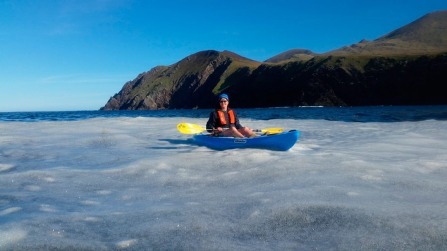 Sea kayaking off the Dingle Peninsula