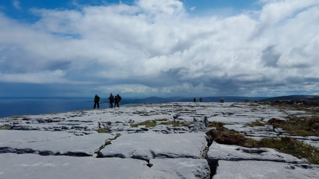 Walking on the High Burren, County Clare